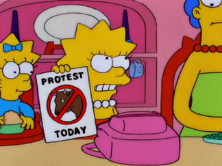 Lisa Simpson Protest Today